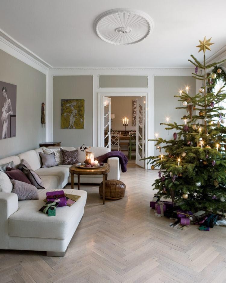 Wohnzimmer zu Weihnachten dekorieren - 35 Inspirationen