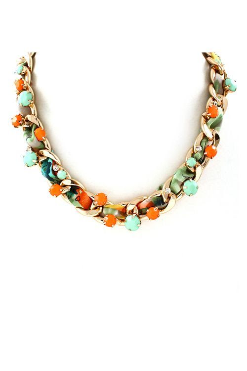 Satin Arie Necklace on Emma Stine Limited