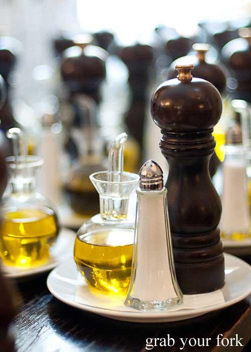 olive oil, salt and pepper