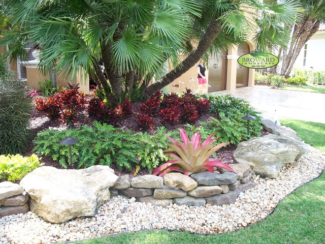 Front Yard Landscape - tropical - landscape - miami - by Broward ...