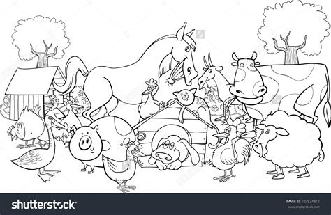 farm animals coloring  farm animals coloring