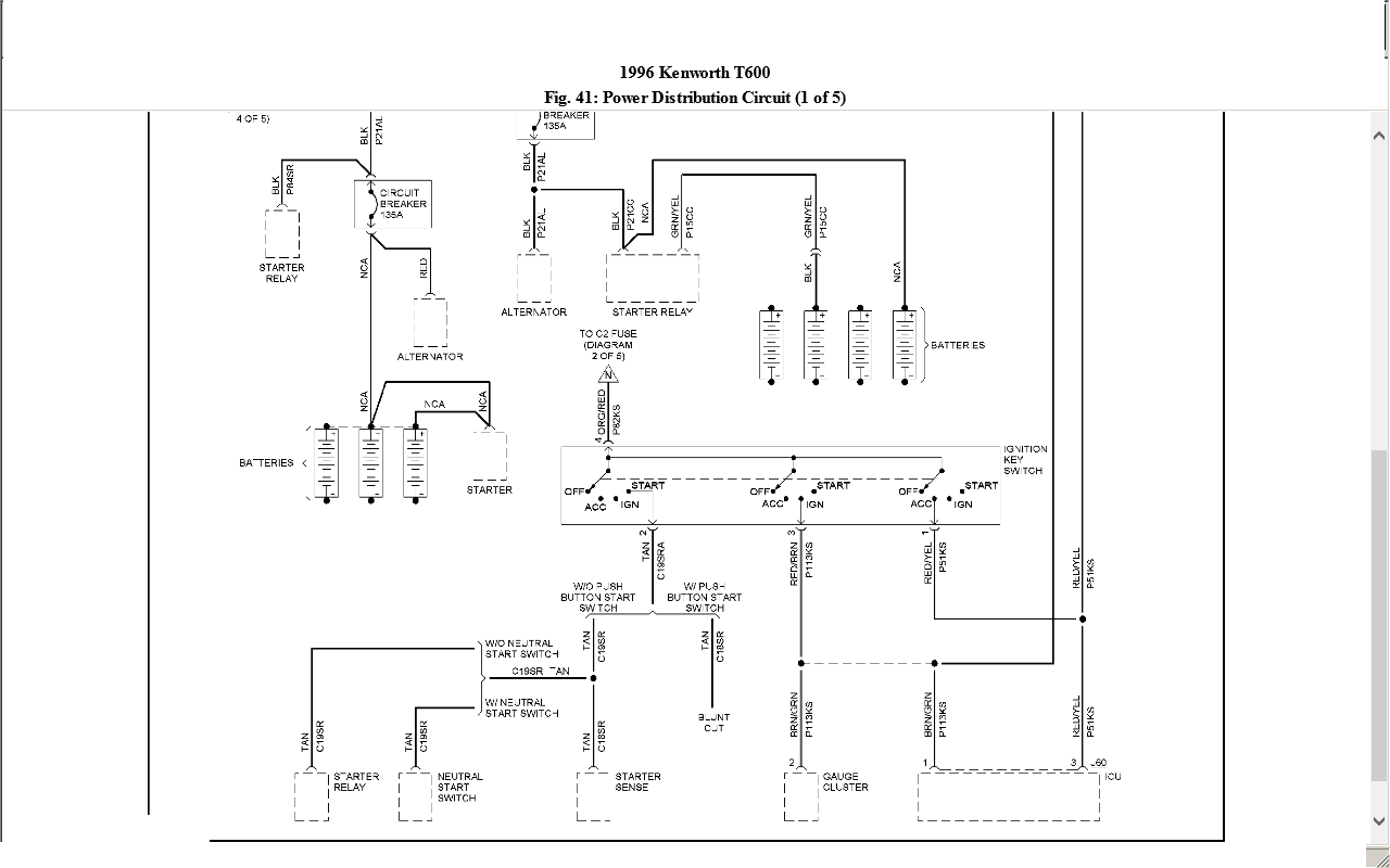 D2a Kenworth W900 Wiring Schematic Diagrams Wiring Resources