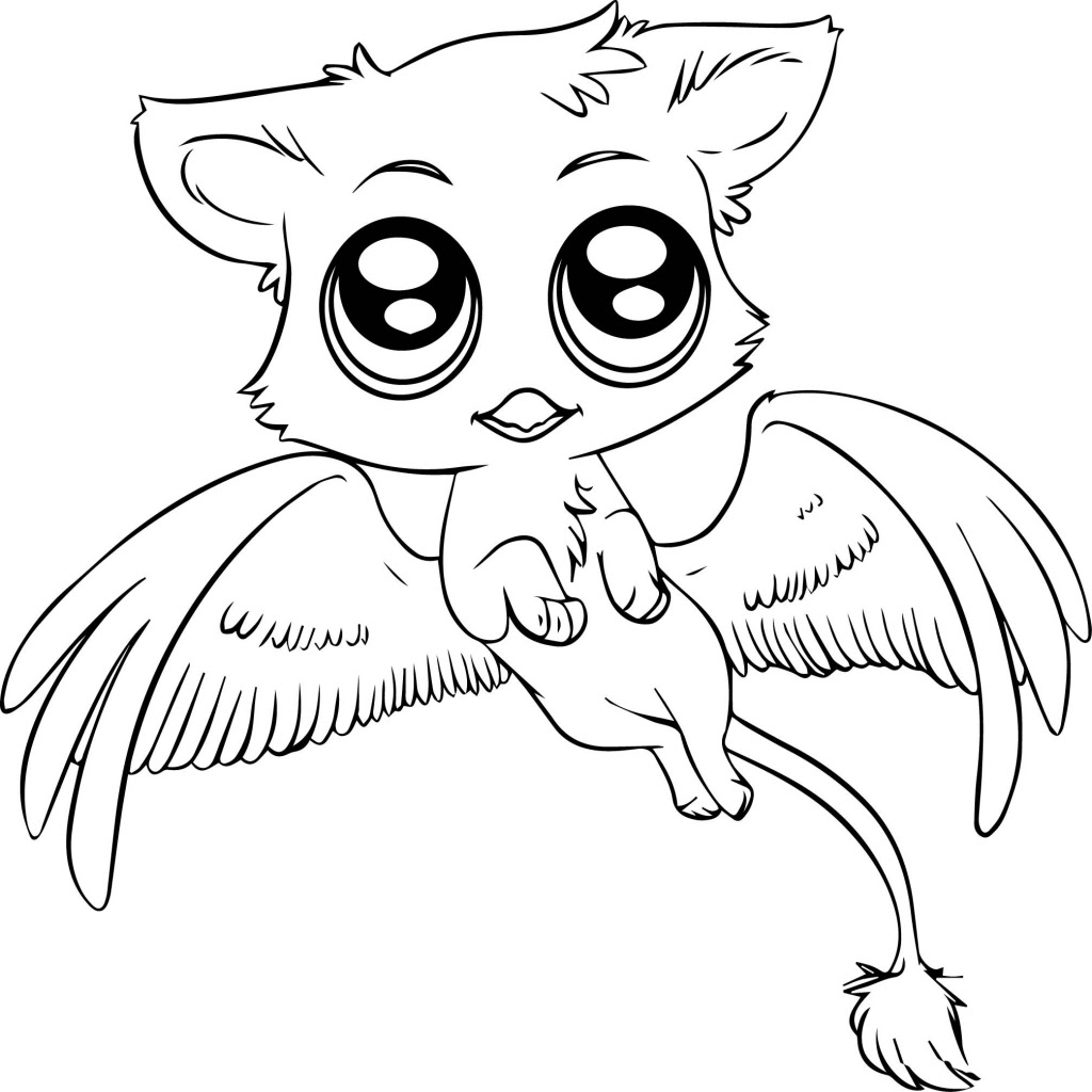 Cute Animals With Big Eyes Coloring Pages at GetColorings ...
