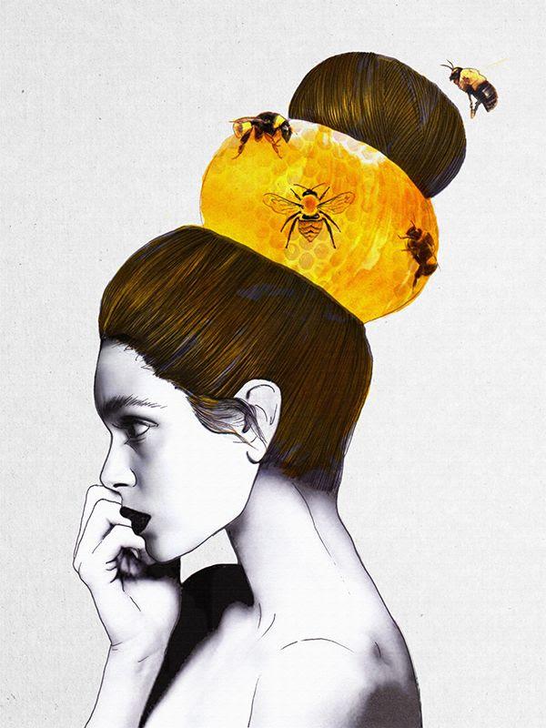 """The Bee Hive""Jenny Liz Rome2013 #draw #illustration"