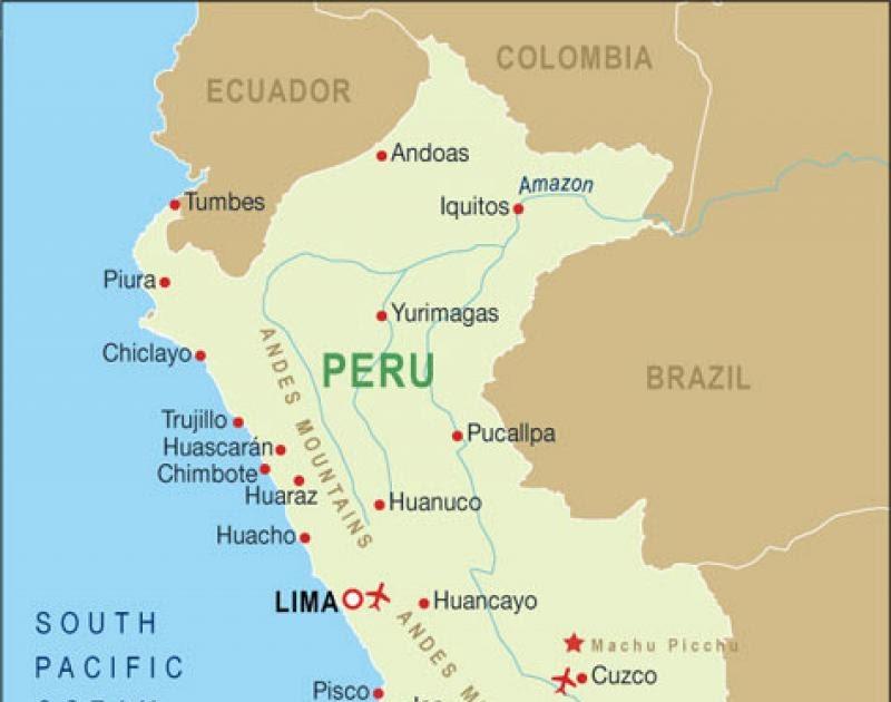 Map Peru And Bolivia - Share Map