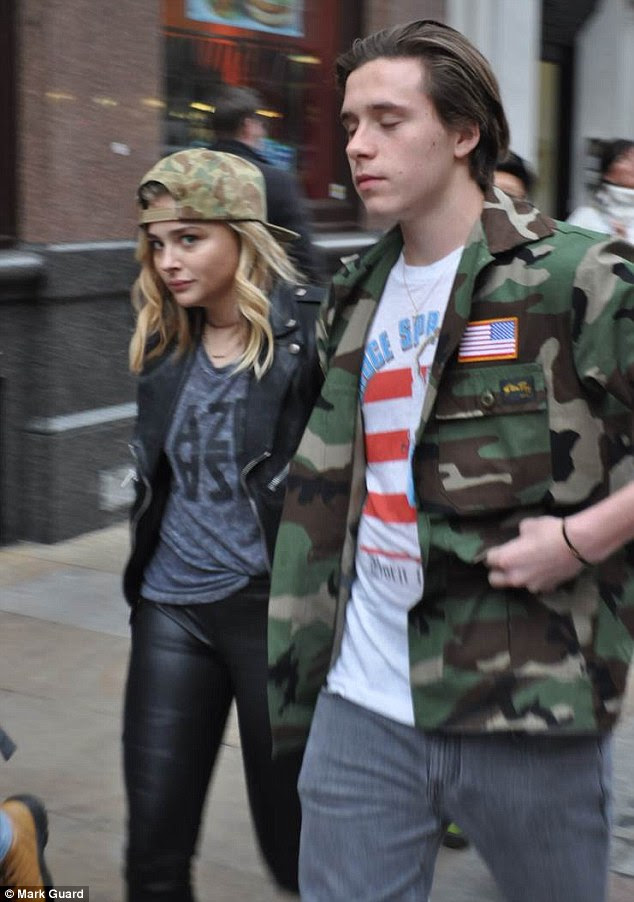 Together again? The picture comes after the long-rumoured couple locked hands while sauntering along London's Shaftesbury Avenue on Friday