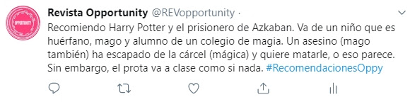 tweet ejemplo