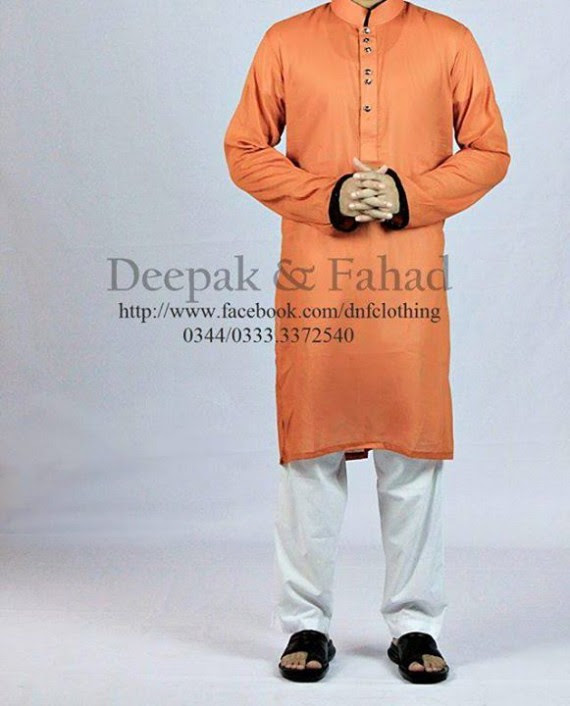 Mens-Boy-New-Summer-Eid-Dress-Kurta-Kamiz-Salwar-Pajama-2013-by-Deepak-Fahad-8