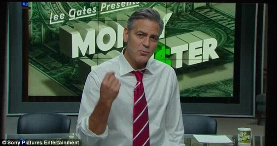 Also expected in the flesh this year are Julia Roberts and George Clooney, who star in The Money Monster (above)
