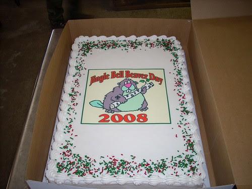 Jingle Bell Beaver Day 2008 Cake