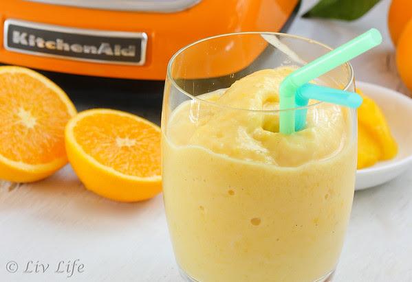Orange Mango Smoothie with KitchenAid Blender