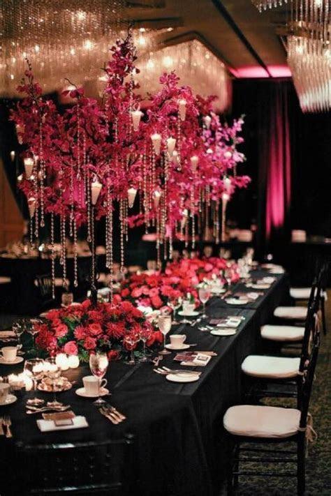 Pink And Black Wedding Decor Ideas ? Wedding Centerpiece
