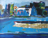 paintbox June Hope, Original Larger Landscape Painting on Paper