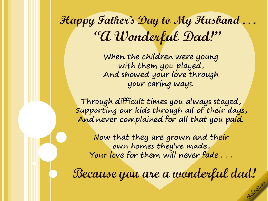 Happy Fathers Day To My Husband Pictures Photos And Images For
