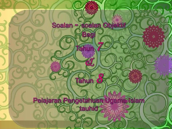 Contoh Soalan Tauhid Darjah 4 - Omong p