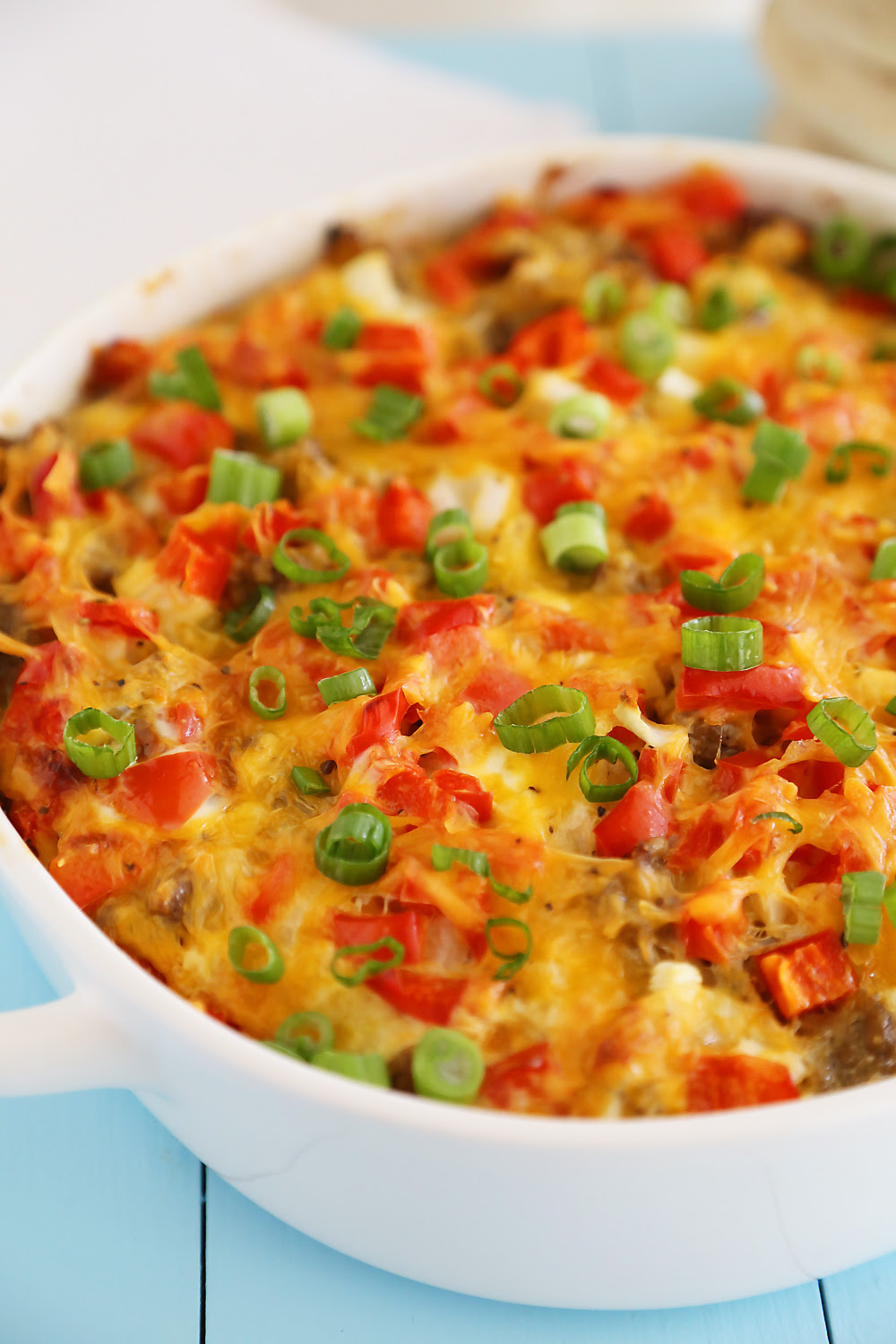 breakfast sausage egg casserole without bread