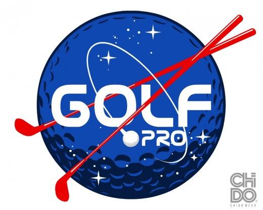 Golf Pro is a blue color golf logo