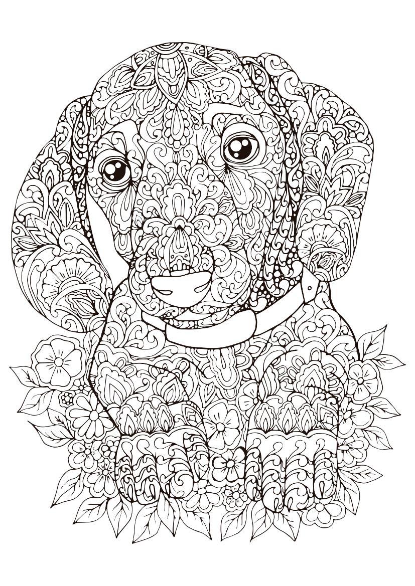 Best Imagenes De Mandalas Para Colorear De Perros Image Collection