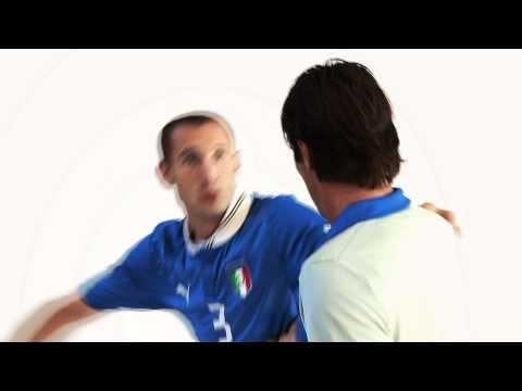Chiellini e Buffon maglie Italia  Europeo 2012  Puma