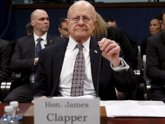 U.S. Director of National Intelligence James Clapper takes his seat to testify in a House Appropriations hearing on
