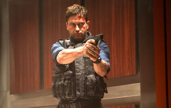 Secret Service agent Mike Banning (Gerard Butler) prepares to take on rogue Korean commandos who attacked the White House in OLYMPUS HAS FALLEN.