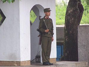 A North Korean soldier in 2005.