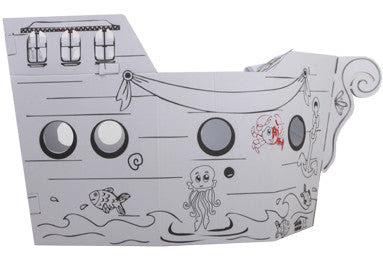 Boyanabillir Oyuncak Karton Ev Korsan Gemisi Küçük Mimar