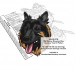 Old German Shepherd Dog Intarsia or Yard Art Woodworking Pattern - fee plans from WoodworkersWorkshop® Online Store - Old German Shepherd Dog,dogs,pets,animals,yard art,painting wood crafts,scrollsawing patterns,drawings,plywood,plywoodworking plans,woodworkers projects,workshop blueprints