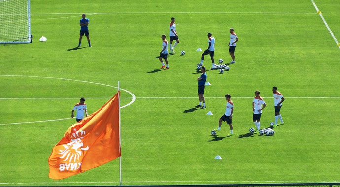 holanda treino copa do mundo treino secreto (Foto: Vicente Seda)