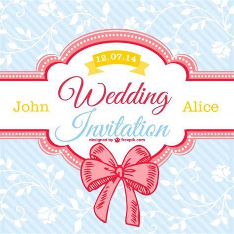 Decorative floral wedding card Vector   Free Download