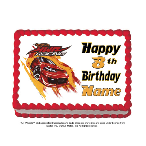 Customized Edible Icing Art Images Party Supplies Hot Wheels