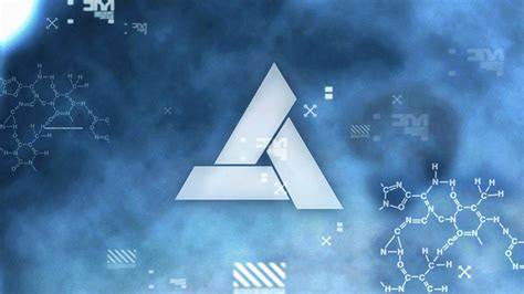 Abstergo industries animus assassins creed blue letters