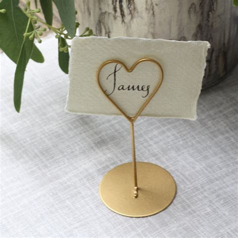 Gold Place Card Holders For Weddings   For Sale!