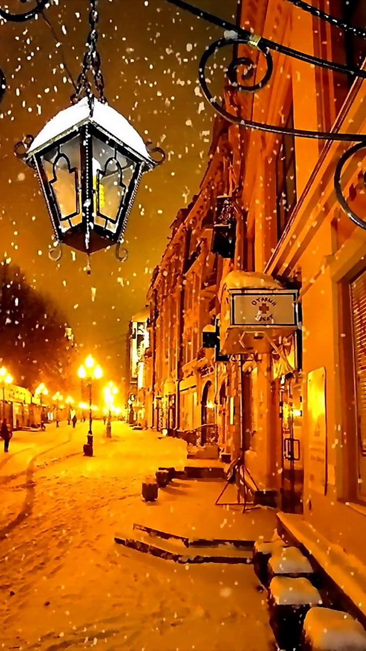 冬の町 Hd壁紙のダウンロード