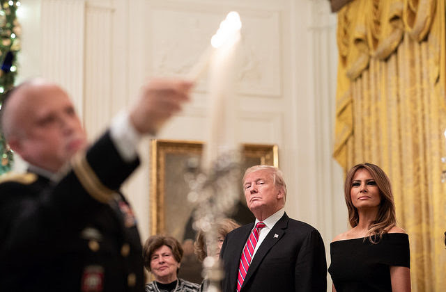 Image result for White House Hanukkah party 2018