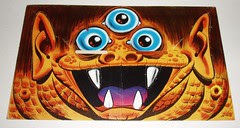 Topps Blockhead - #8 Three-Eyed Monster