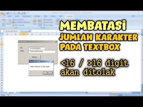 Cara Membatasi Jumlah Digit Angka pada Textbox Userform