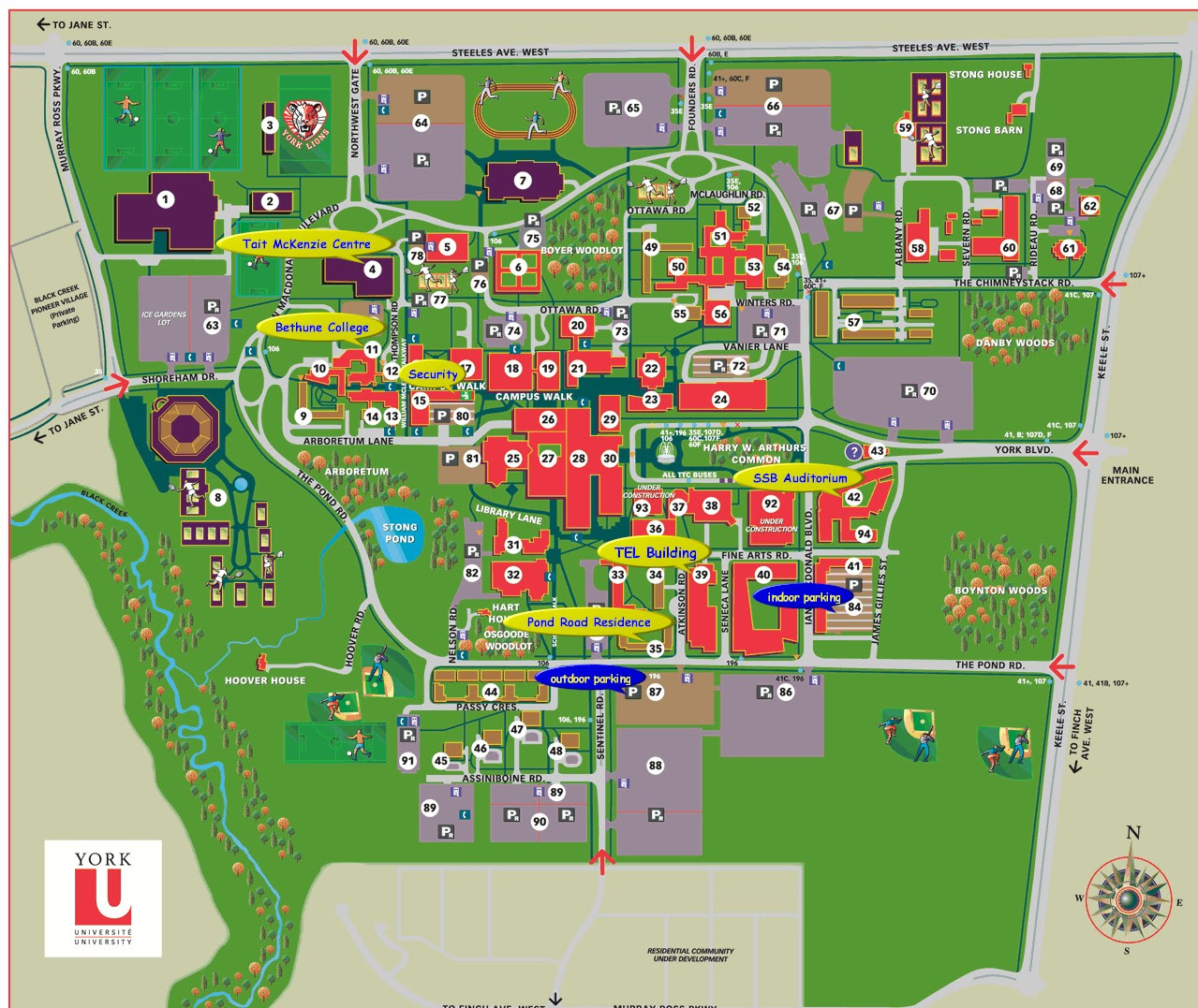 York University Campus Map York Campus Map | Bedroom 2018