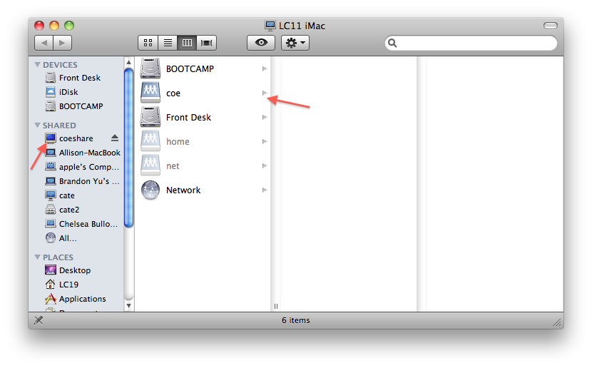 How To Map A Network Drive In Mac Os X College Of
