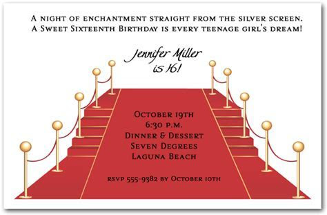 Red Carpet and Stairs Party Invitations