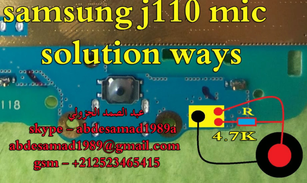 Samsung Galaxy J1 Ace J110 Mic Solution Jumper Problem Ways Microphone