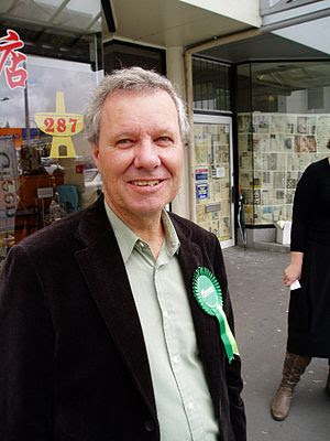 New Zealand Green Politician Keith Locke campa...