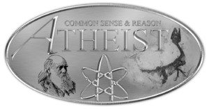 English: Atheist Badge:The design of the A-let...
