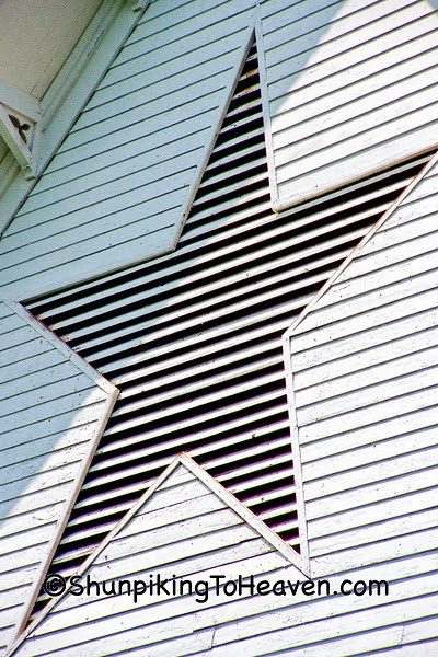 Star-shaped Ventilator on the Star Barn, Built 1872, Dauphin County, Pennsylvania