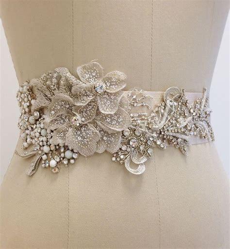 Beaded Bridal Sash with Floral Motif   Member Board: Bride