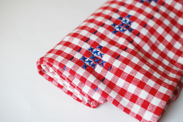 Cross My Heart Dish Towel