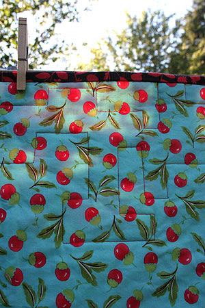 Cherry Quilt Detail