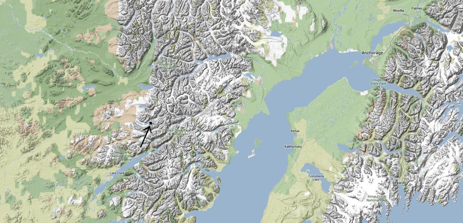Alone In The Wilderness Location Map  Richard Proenneke