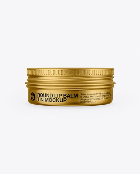 Download Metallic Lip Balm Tin Mockup - Front View Object Mockups