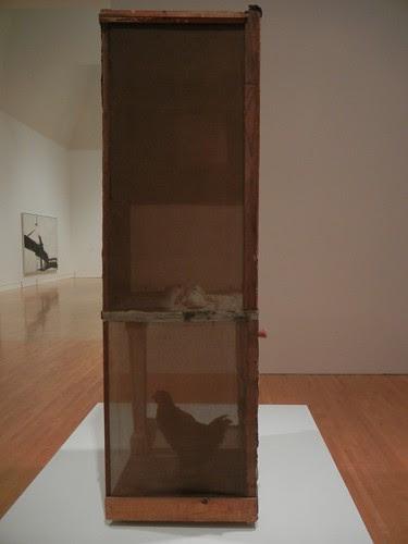 DSCN8749 _ Untitled, c. 1954, Oil, pencil, crayon, paper, canvas, fabric, wood, glass, mirror, etc., Robert Rauschenberg (1925-2008), MOCA